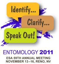 Entomological Society of America 2011 Annual Meeting Logo